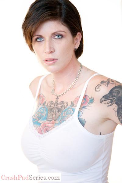 Kathryn Dupri poses on queer porn site CrashPadSeries.com